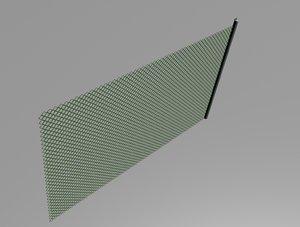 grill fence metal 3d fbx
