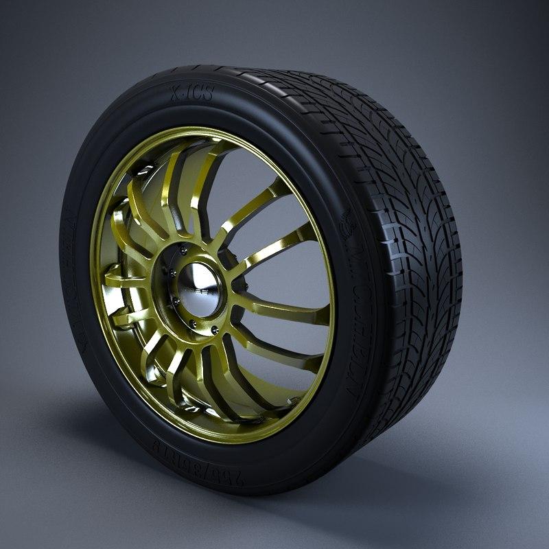 3d wheel vossen model