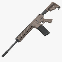 Assault Rifle AR15 Desert 3D Model