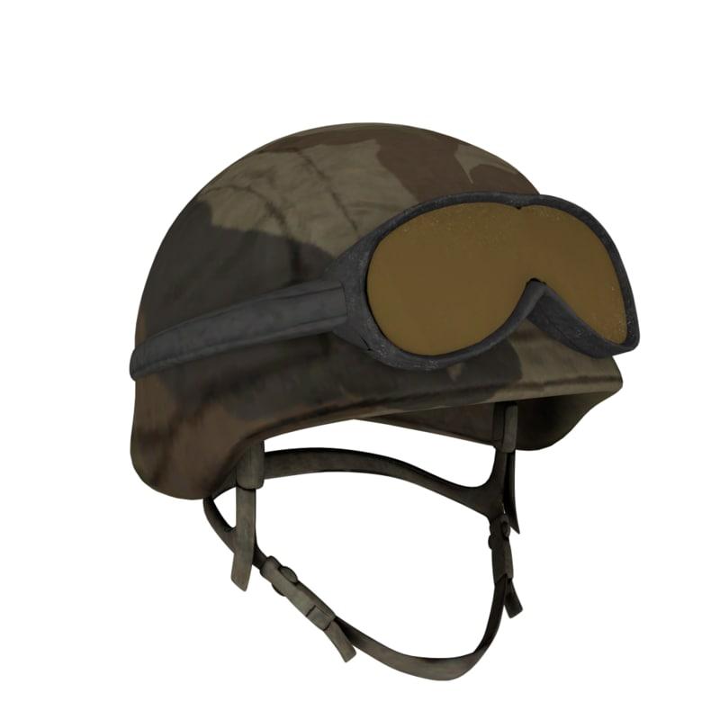 3ds helmet head