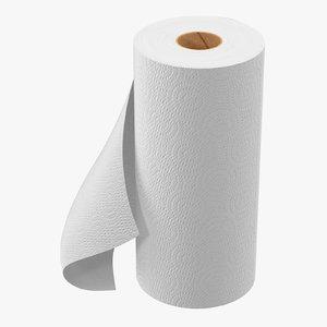 paper towel roll 3d max