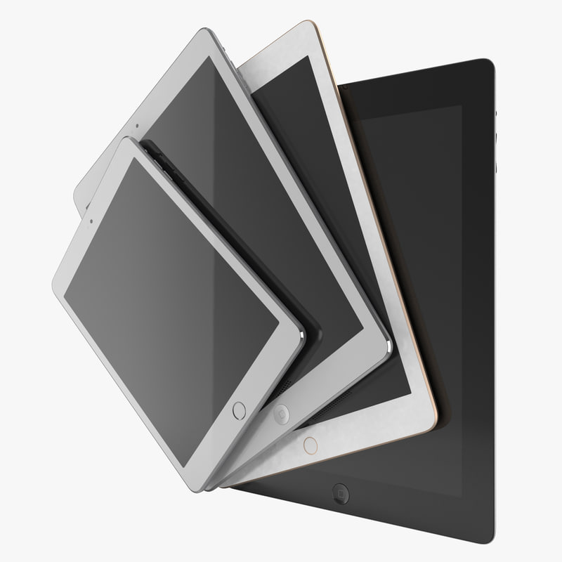 3d ipads 2 modeled 3