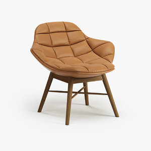 3d offecct palma wood chair model