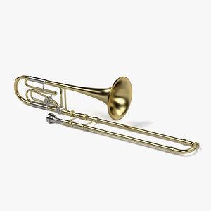 3d model bass trombone