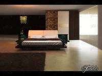 3d bedroom scene