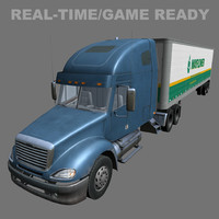 time freightliner columbia 3d model