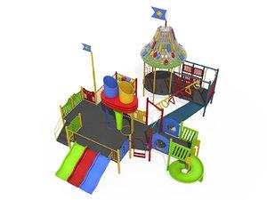 3d model play gym