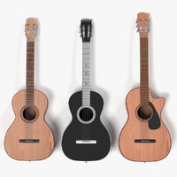 3d acoustic guitars