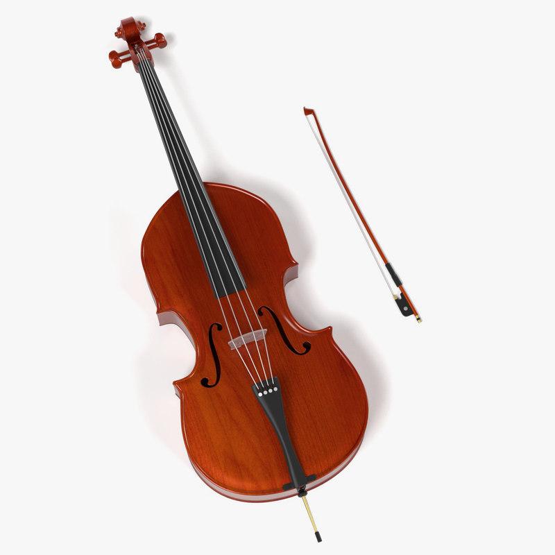 3d contrabass bow model