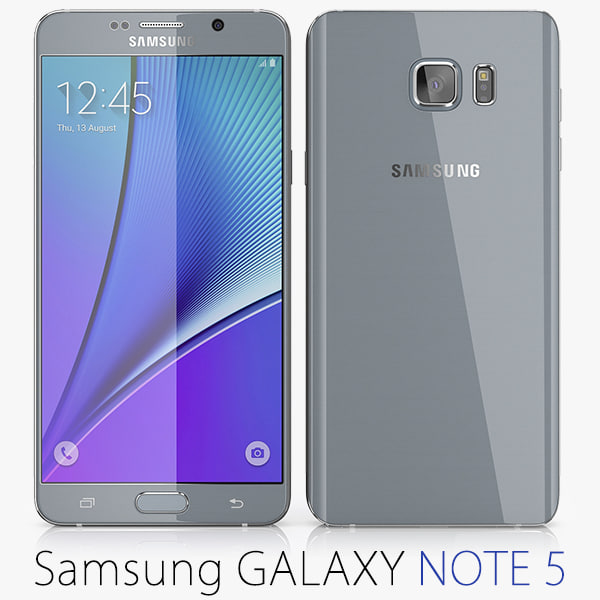 galaxy note samsung 5 3d obj