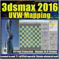 034 3ds max 2016 UVW Mapping v.34 cd front