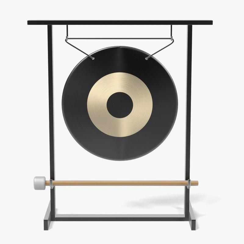 gong musical instrument 3d 3ds