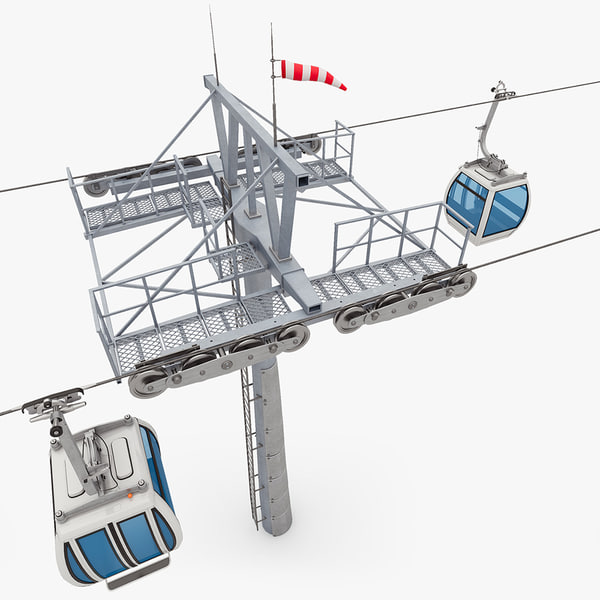 3d model cable cableway