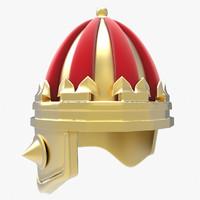 3d model crown helmet