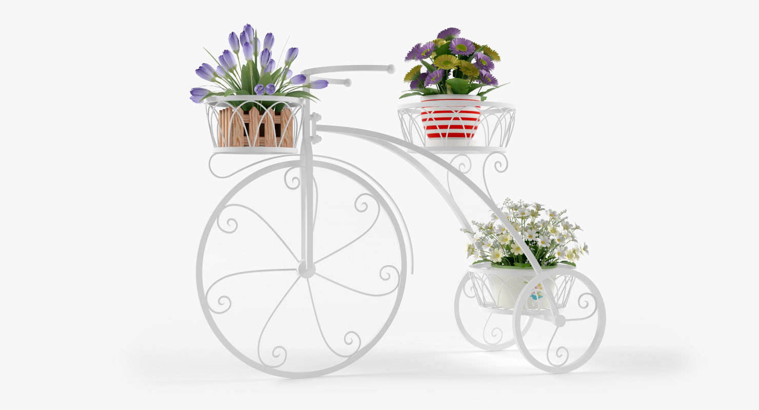 bicycle outdoor plant stand max