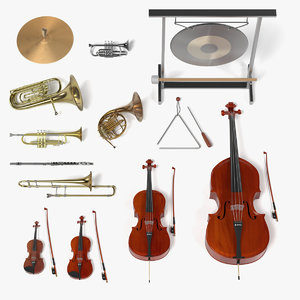 orchestra musical instruments 3d model