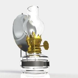 vintage oil lamp 3d ige