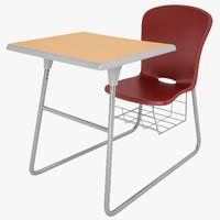 3d model of student desk