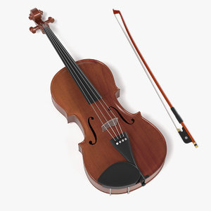 3d 3ds violin bow