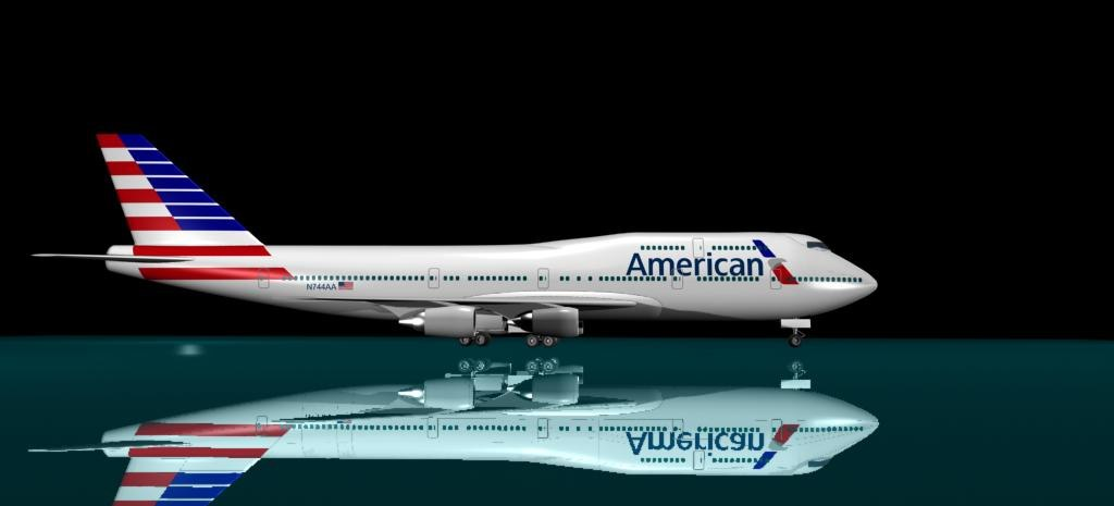 3d american airlines new logo model