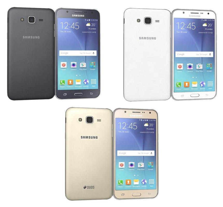 Samsung galaxy j7 for element 3d - Samsung Galaxy J7 Colors 3d Model