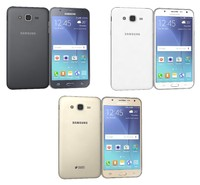 samsung galaxy j7 colors 3d model