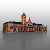 3d railway station model