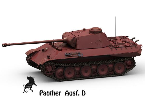 3d model panther panzer ausf d