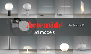 artemide table lamps volume 2 max