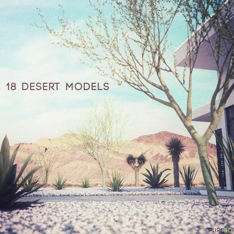 maya 18 high-res desert cg