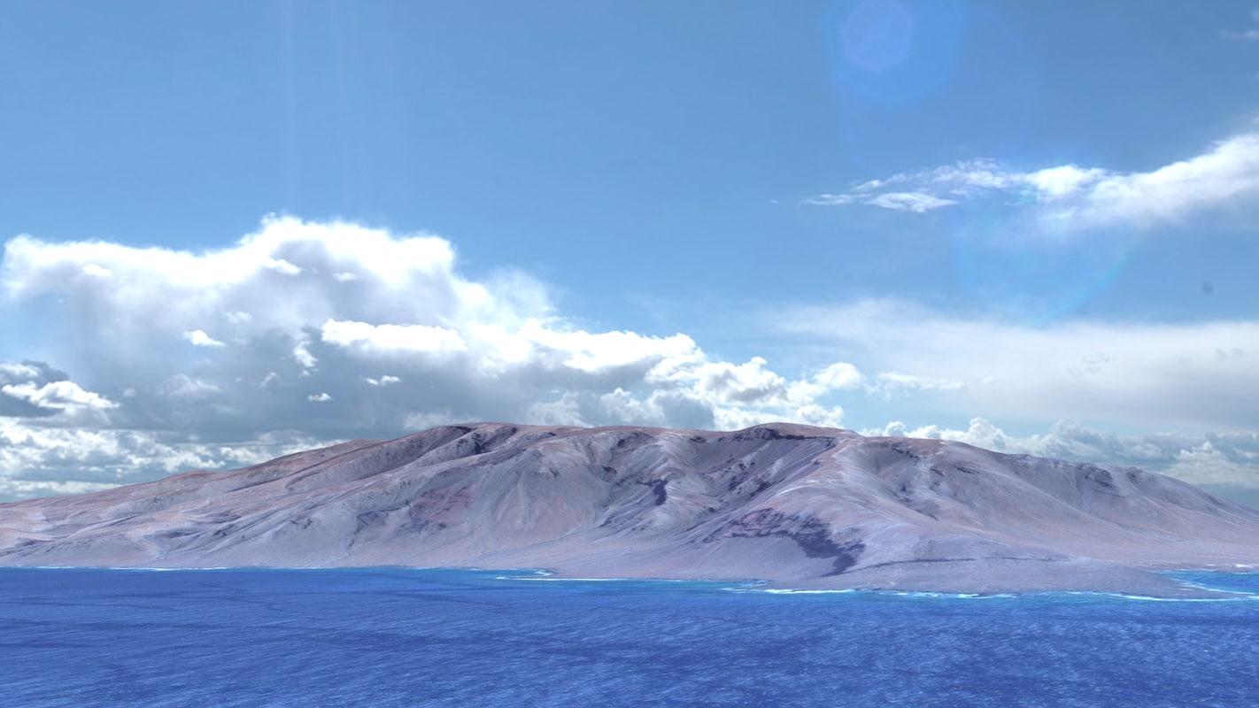 3d model landscape island cape verde