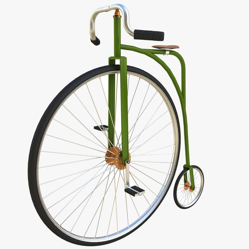 penny bike 3d dxf