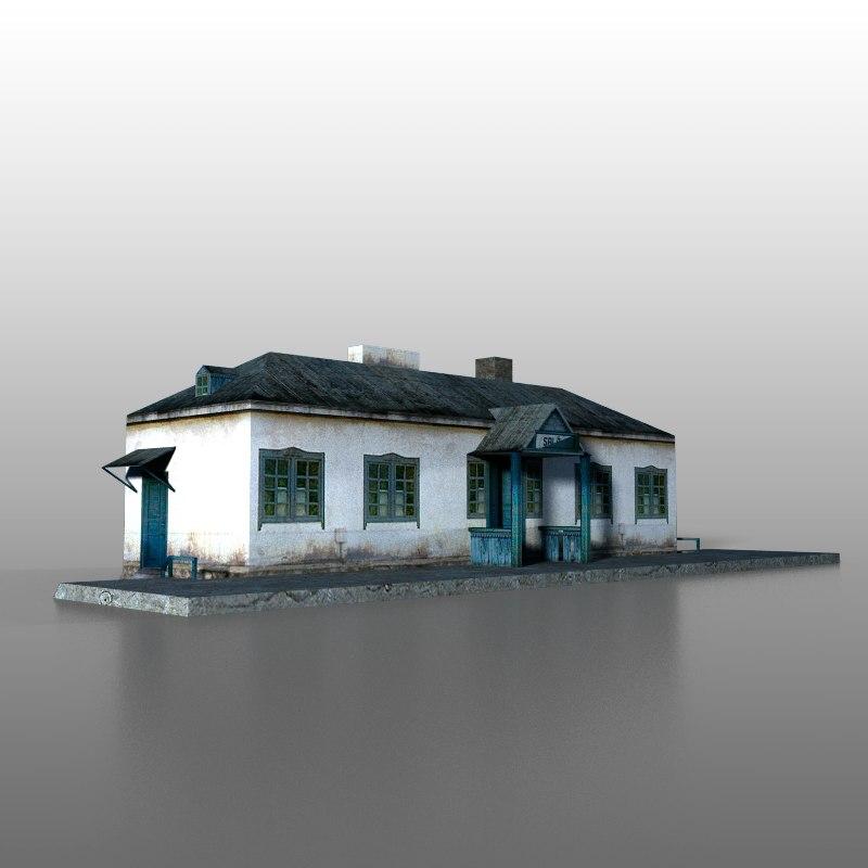 railway station 3d max