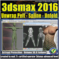 036 3ds max 2016 Unwrap Pelt Spline Unfold V.36 cd front