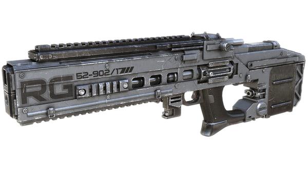 3d rifle weapon model