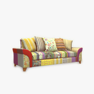 modern sofa patched 3d max