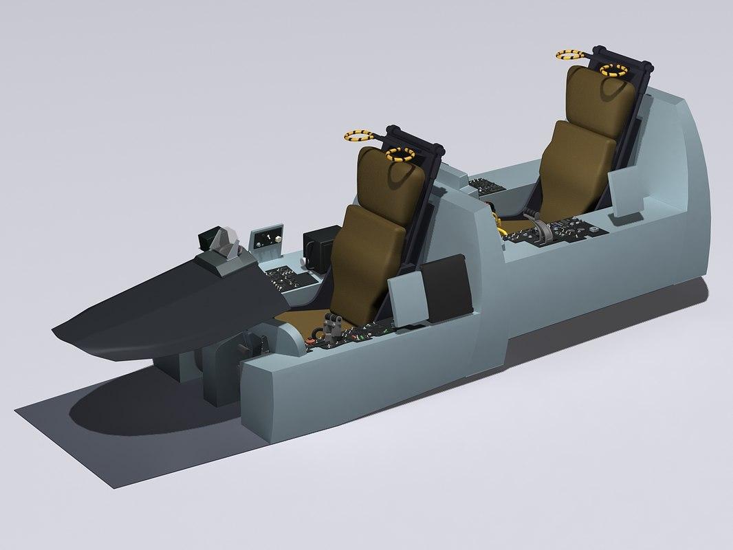 3d f-4d cockpit