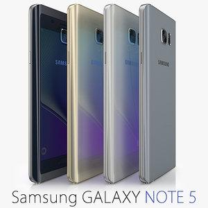 galaxy note samsung 5 3d c4d