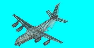 3ds max antonov an-188 speculative aircraft