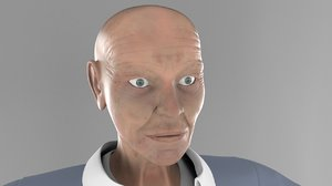 3d model old man