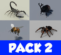 insect pack 2 3d model