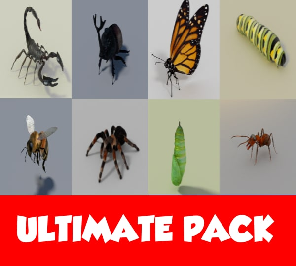 blend ultimate insects pack