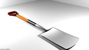 3d garden tool spade