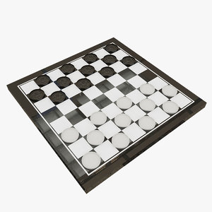 3d checkers model
