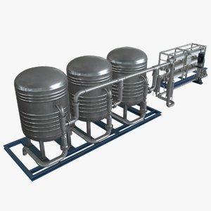 water filtration 3d model
