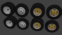 3dsmax truck wheels