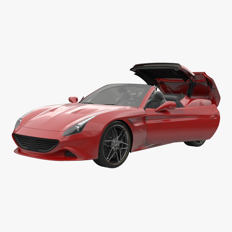 3d model generic sport car rigged