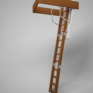stair fakro ltk thermo 3d model