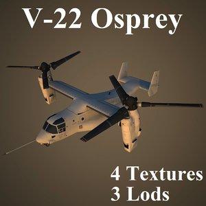 3d model bell boeing osprey