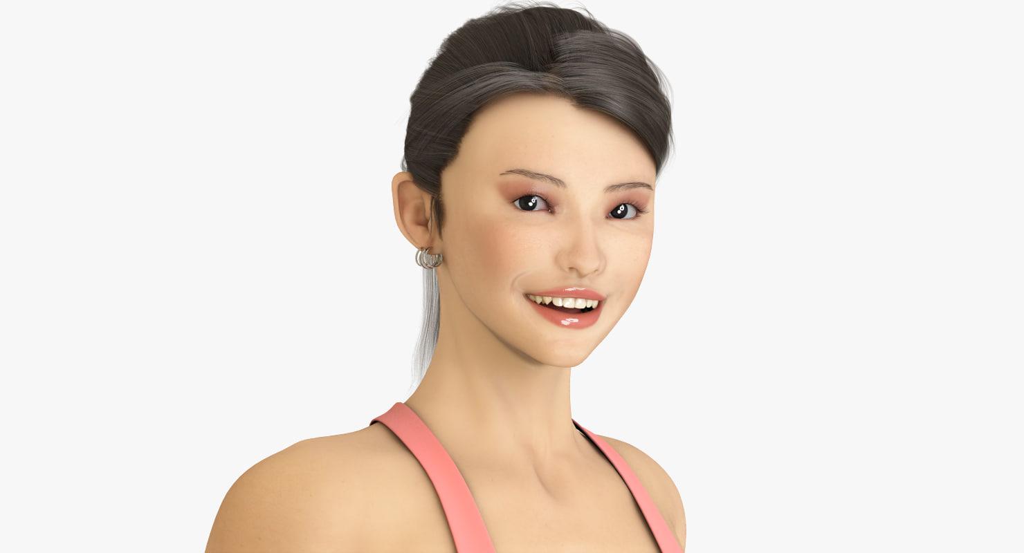 hair 3 mika max9 3d model